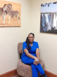 Chakeitha gives diabetic friendly pedicures at the Spring TX medical spa
