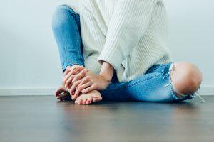 Hepatitis C foot damage
